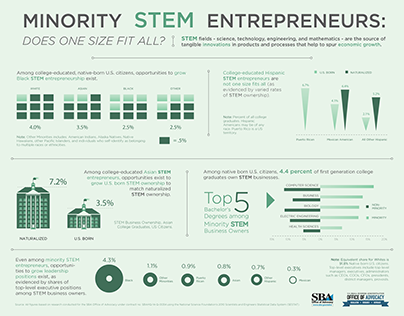 Minority STEM Entrepreneurs Infographic