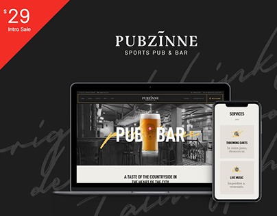 Pubzinne - Sports Bar WordPress Theme