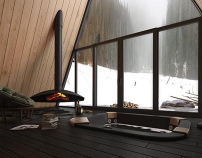 Winter House, Iceland by Yunus Kandemir