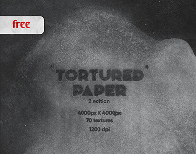 """Tortured"" paper V2. Free texture pack"