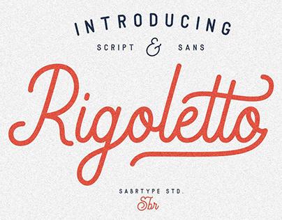 Rigoletto - Monoline Script Font
