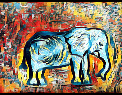 Elefante! -Personal project-Mixed media
