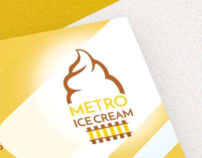 METRO ICE CREAM identity and packing