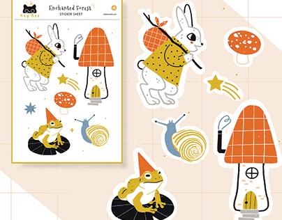 Enchanted Forest Sticker Sheet
