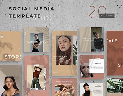 Social Media Template Fashion