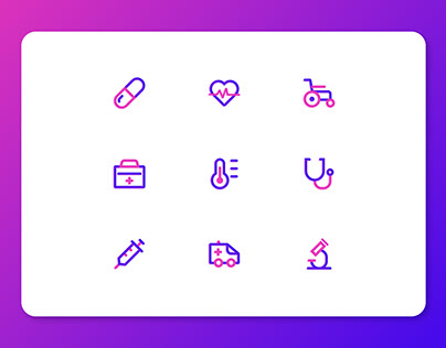 Hospital and Medical Icons Set