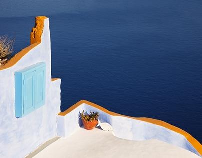 Fairytale island of Santorini
