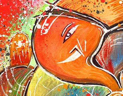 Ganesha Artworks - Watercolor Paintings