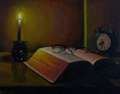 Acrylic Still Life Painting - The Book