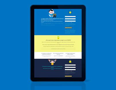 GDPR | Landing Page | Copy + design