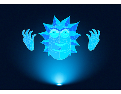 Rick Hologram from Rick and Morty
