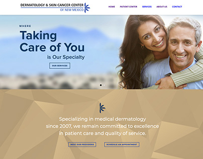 Website for Dermatology and Skin Cancer Center of NM