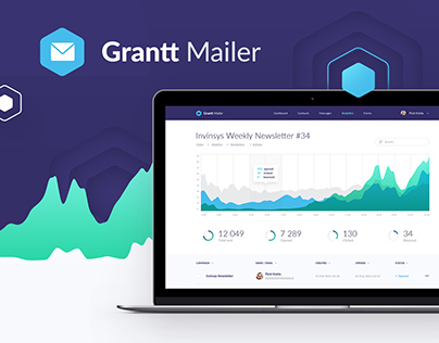 Grantt Mailer - web application & landing page