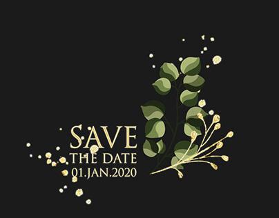 Save The Date Floral Design Motion Graphics Design 03
