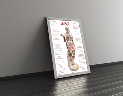 2017 Tattoo Calendar Print
