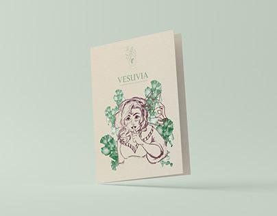 Brochure ilustrado - Vesuvia botánica esotérica