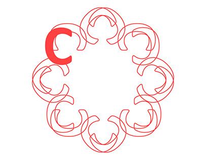 Готическая роза. Композиция. Calibri Bold шрифт