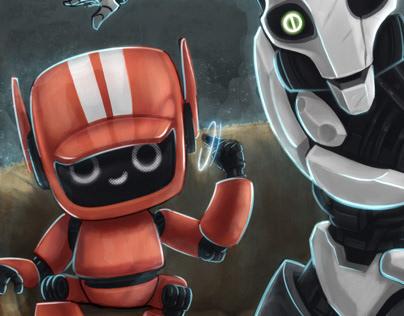 Three Robots, #waw, Love, Death +Robots fan art