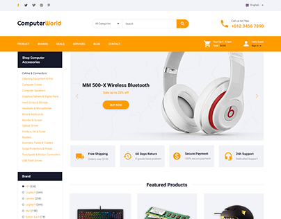 Computer Store – PSD Template