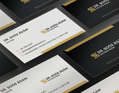 Dr. Soós Ádám lawyer office branding.
