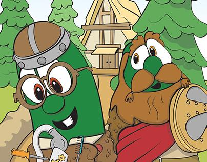 Coloring VeggieTales Super Comics: MacLarry