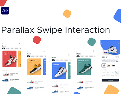 Parallax Swipe Interaction