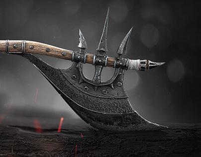 Barbarian Axe (Diablo IV fan art)