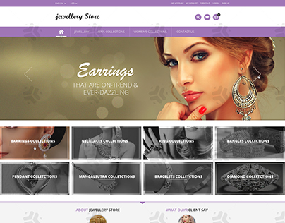 Jewellery Store Landing Page PSD Design.!!