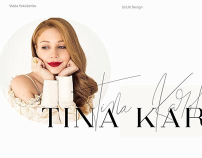 Landing page about Tina Karol