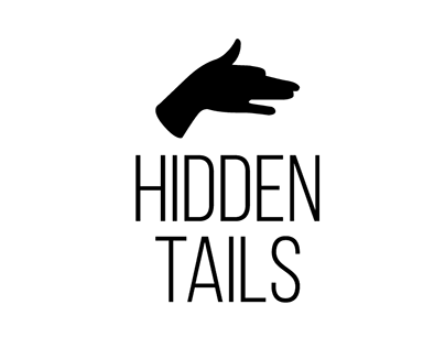 HIDDEN TAILS pet brand logo & packaging & display shelf