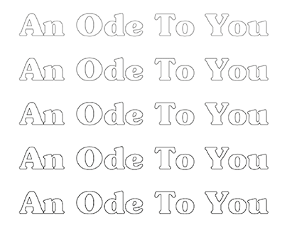 """""""an ode to you"""""""