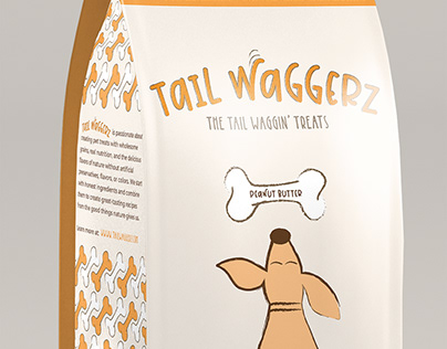 Tail Waggerz // Dog Treat Packaging