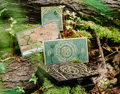 Mystic forest wedding invitation