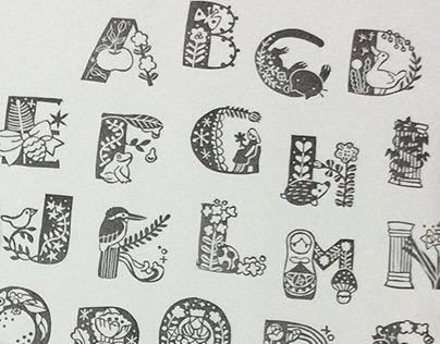 Alphabet hand carving stamp