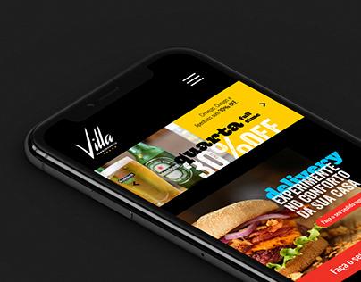 Villa Hamburgueria - Digital design