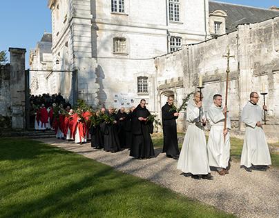 Procession des Rameaux, Abbaye de Saint-Wandrille