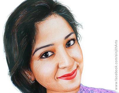 Aparna Thomas - Realistic Colored Pencil Drawing