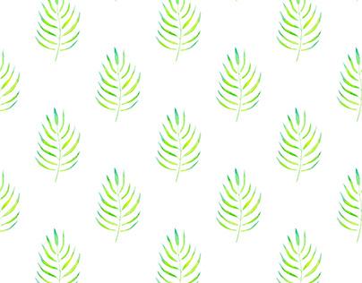 Watercolor Leaf Seamless Pattern / Free