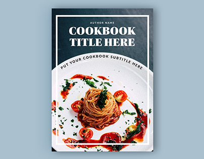 Adobe: Cook Book Layout with Gold Accents (Download)