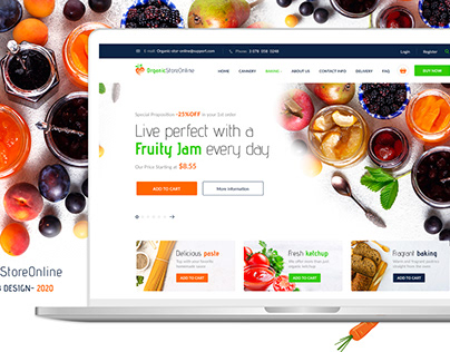 E-commerce Organic Food Store