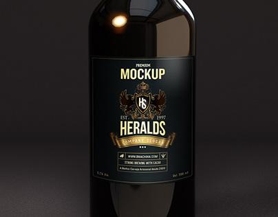 Premium Beer Bottle Mockup - DARKIII
