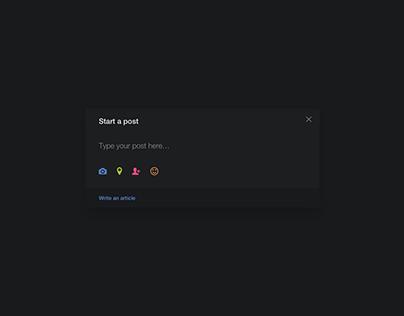 Day 782 • Write Post UI Design
