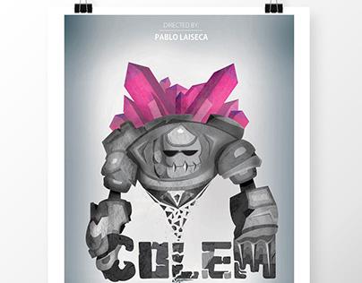 Golem vector poster