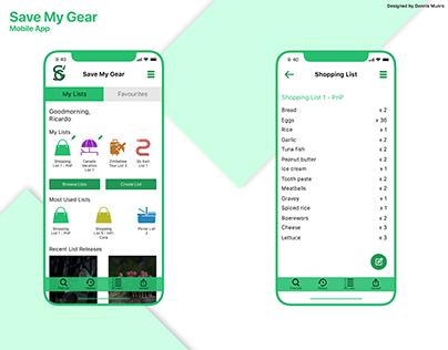 Save My Gear App