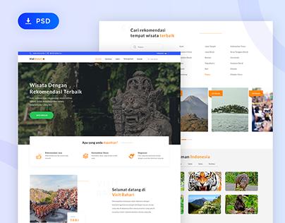 Free PSD Travel Website Design
