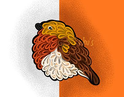 Kuruvi Bird Illustrations