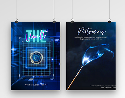 Hues of Blues: Poster Series