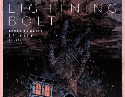 Lightning Bolt - Gig poster