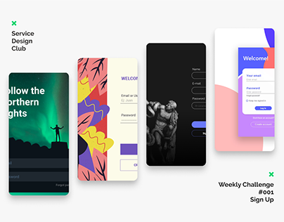 Service Design Club's Weekly Challenge #001 - Sign Up