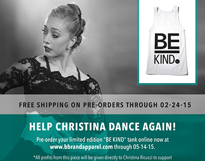 Be Kind Campaign for Christina Riccuci